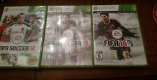 FIFA Soccer Game Collection Bundle Lot 12/13/14 Xbox 360 3 Games Best Deal!! CIB