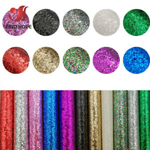 Sparkly Chunky Glitter Fabric Rainbow iridescent Faux Leather DIY Bow Earring