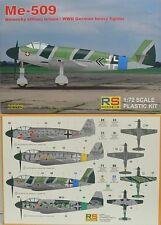 Me-509, grave cacciatore WK II, 1:72, plastica, RS-model, Novità