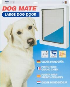 """LM Dog Mate Multi Insulation Dog Door - White Large (Dogs up to 25"""" Shoulder Hei"""