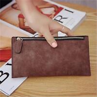 Women PU Leather Card Holder Case Long Wallet Clutch Handbag Purse Zip Bag Z
