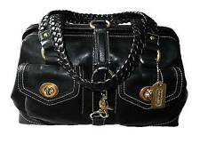NEW COACH BLK VACHETTA LEATHER DAHPNE DOCTOR SATCHEL TOTE BAG W/ BRAIDED HANDLES
