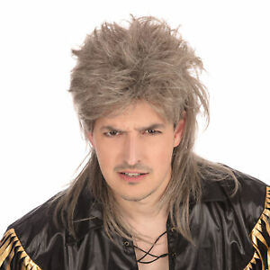 Deluxe 1980s Mullet Wig Adults 80s Fancy Dress Accessory Mens Ladies