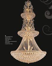 "Palace Firework 40 light 66"" Crystal Chandelier Gold Lamp Precio Mayorista"