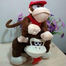 2Pcs Nintendo Super Mario Bros Plush Toy Donkey Kong & Diddy Kong Stuffed Animal