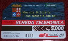 MARINA MILITARE IL TUO FUTURO.... ( GOLDEN 990 ) SCHEDA TELEFONICA TELECOM USATA