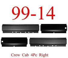 99 17 Super Duty 4Pc Rocker Panel, Crew Cab, Front & Rear, Ford Trucks F250 F350