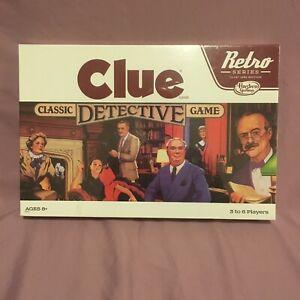 CLUE Retro Series 1986 Edition New Sealed Classic Detective Board Game Hasbro