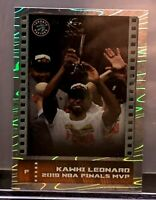 2019-20 Panini (2)Sticker Collection Kawhi Leonard Silver Sticker NBA Finals MVP