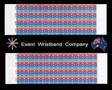 100 x Kaleidoscope Tyvek, party, security, event, school wristbands