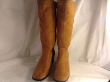Women's  Solid Brown Faux Suede George Eliza Tall Medium Heel Boots Size 8.5