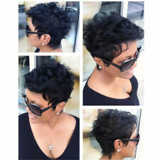 Synthetic Short Afro Curly Black Wig Pixie Cut Wig for Women with a Free Wig Cap