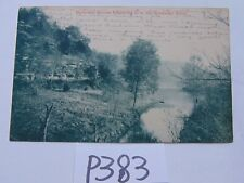 VINTAGE POSTCARD USED 1910'S 1912 MOUNTAIN STREAM EMPTYING TO KENTUCKY RIVER