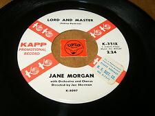 JANE MORGAN - LORD AND MASTER - WHERE'S THE BOY - LISTEN -TEEN GIRL POPCORN