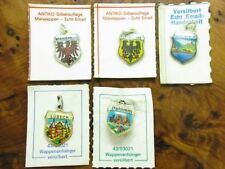 Silver Plated Coat of Arms Trailer/Charms for Charm Bracelet with Enamel