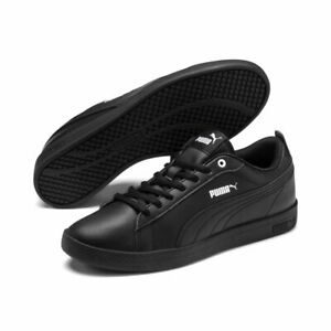 Puma Smash v2 Leather Womens Ladies Casual Sneakers Sports Shoes Lace Up Black