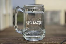 Captain Morgan Beer Spiced Rum Retro Embossed Heavy Glass Tankard Collectable