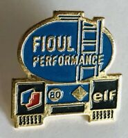 Fioul Performance Elf Oil Truck Advertising Pin Badge Rare Vintage (F11)