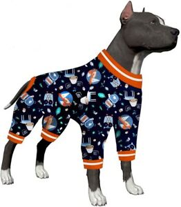 LovinPet Dog Post Surgical Pajamas/Full Coverage Dog Pjs/Pet Clothes for Big Dog