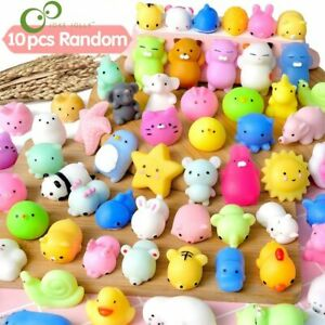 10Pcs/set Mini Mochi Squishy Toys Party Favors for kids Animal Stress Relief Toy