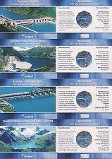 Österreich 5 Euro 2003 Silber Wasserkraft 4x Miniblister