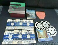 Vintage View-Master Stereoscope, 9 Reels, Roy Rogers, Gene Autry, Hopalong Cas