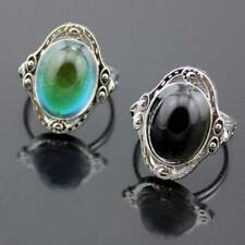 Wholesale Vintage Color Change Mood Ring Emotion Feeling Oval Stone Rings Lot