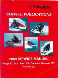 2000 Polaris Virage TX / SLX / Pro 1200 / Genesis ( FFI ) PWC Service Manual CD