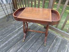 ANTIQUE  1940's HARP LYRE Side ACCENT Table