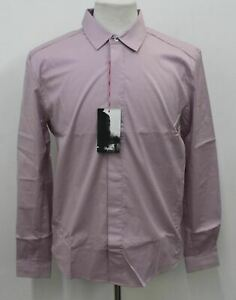 RAPHA Men's Purple Cotton Blend Long Sleeve Poplin Cycling Shirt Size L BNWT