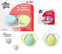 Tommee Tippee x 2 Cherry Latex Dummy Pacifier BPA Free Soother 0-6 M 2 Colours