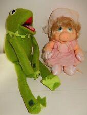 Peluche Plush Vintage KERMIT Miss PIGGY Peggy Muppets show 1986 RAINBOW TOYS