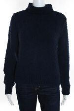Rag & Bone Knit Blue Cotton Long Sleeve Turtleneck Sweater Size Small