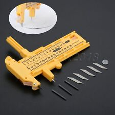 Yellow Compass Circle Cutter Round Cutting Knife Sewing Patchwork Quilting Tool