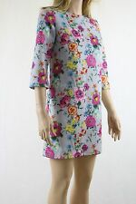 ASOS Multi Floral Print T-shirt Dress UK SIZE 8