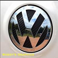 VW GOLF 7 MK7 BADGE INLAY Set Vinyl 4D Carbon Front & Rear