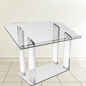 Tabletop Transparen Plexiglass Podium Pulpit Lectern Slanted Conference Pulpit