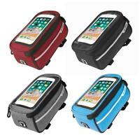 Waterproof MTB Road Bike Front Tube Bag 6in Phone Touch Screen Saddle Bag /Neu