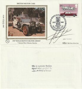 13 OCT 1982 BRITISH MOTOR CARS BENHAM LE FIRST DAY COVER SIGNED JOHN SURTEES