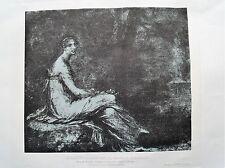1m49 Gravure estompe et crayon noir de Prud'hon, l'impératrice Joséphine