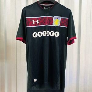 2017/18 Aston Villa Away Shirt Size Large Mens - Under Armour *VGC* FREE POST