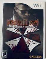 Resident Evil: The Umbrella Chronicles (Nintendo WII, 2007) CIB