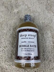 DEEP STEEP Vanilla Coconut Bubble Bath 17oz NEW SEALED