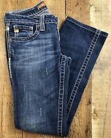 """Big Star Sweet Straight Ultra Low Rise Med Wash Jeans Size 27R. 28x29x7"""""""