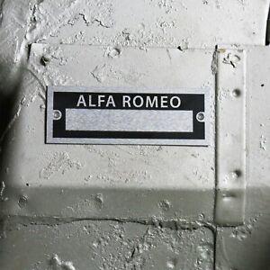 Alfa Romeo Identification Plate Dataplate Serial Number ID Tag Giulia 4C Spider
