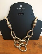 Freedom By Topshop Silver White Rope Boho Necklace BNWT