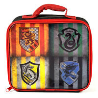 Official Harry Potter Hogwarts House Crests Logo  Kids Insulated Lunch Bag Box