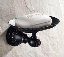 Black Bathroom Accessories Wall Mount Soap Dish Holder Oil Brass Finish qba443
