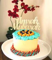 Umrah Mubarak Gold Glitter Cake Topper, Eid, Ramadam, Umrah Celebrations