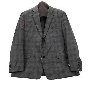 NEW Shaquille O' Neal Big & Tall 56 R Mens Sport Coat Blazer Stretch Plaid Gray